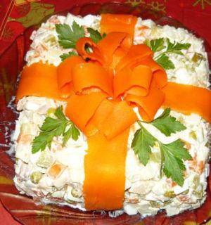 Салат «Оливье-торт»