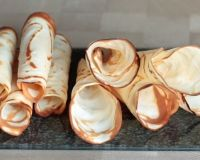 Хрустящие вафли на сковороде