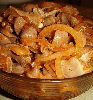 Куриные желудочки по-корейски