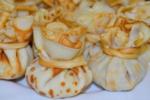 Самая оригинальная закуска— мешочки из блинчиков