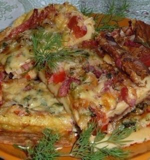 Омлет-пицца