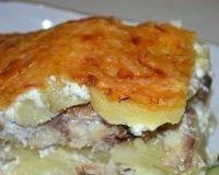 Картофельная запеканка со скумрией