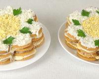 Представляем вам рецепт вкуснейшего салата-торта из крекеров