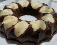 Кекс шоколадный с творожными шариками