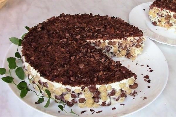 Хулиганский хрустящий торт без выпечки за 2 минуты