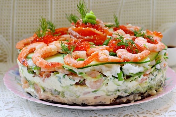 Салат суши невероятно вкусно и не отличить от настоящих!