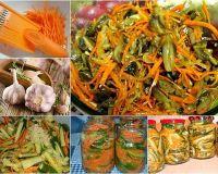 Салат «Огурцы с морковью по корейски»