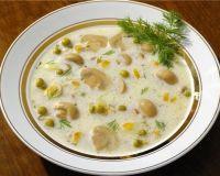 Рецепт сырного супа-жульена с курицей и шампиньонами
