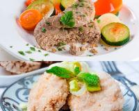Три диетических блюда из говядины, индейки и телятины
