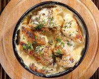 Картошка с курицей под ароматным соусом