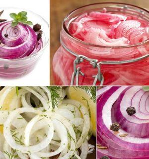 Самые удачные рецепты маринованного лука: на закуску и для салатов