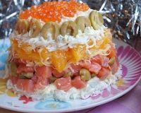 Королевский салат с форелью и апельсином