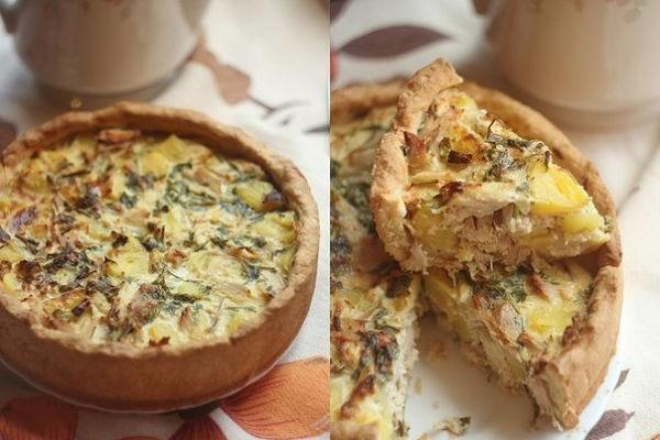 Пирог с курицей и картофелем— вкусный, сытный, ароматный