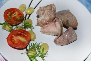 Отварное мясо  для диетического стола