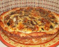 Картофельное лукошко с мясом и грибами