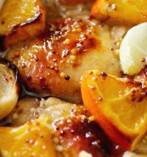 Куриные грудки в апельсинах