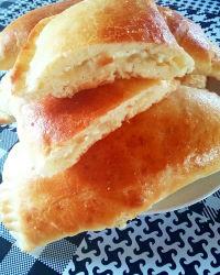 Пирожки с творогом и сыром
