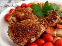 Куриные ножки в арахисовой шубке, запеченные в духовке
