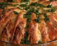 Пирог из батона с ветчиной и сыром 20 минут и ужин готов
