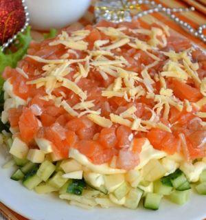 Салат «Новогодний» из семги