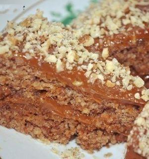 5-минутный ореховый торт без муки