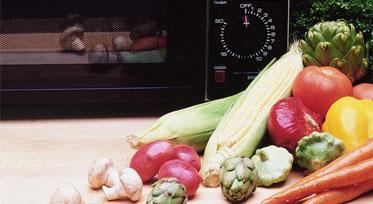 овощи в микроволновке