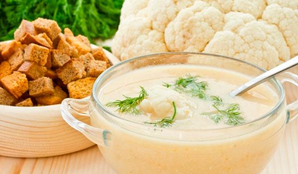 суп с цветной капусты