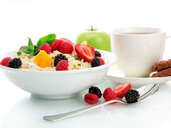 каша с фруктами