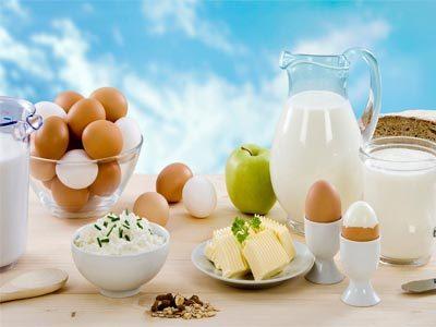 продукты из молока и яиц