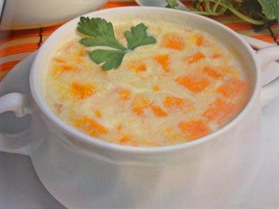 суп кефирный с морковью
