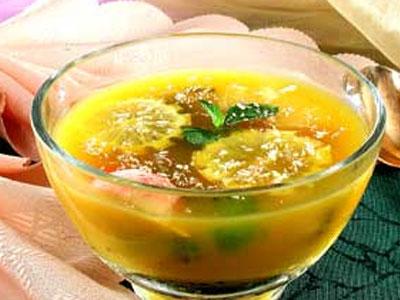 суп с яблоком и лимоном