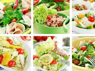 салаты с добавлением зелени