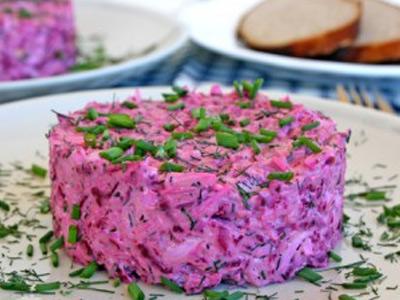 свекольный салат с редисом