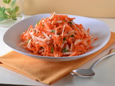 салат с яблоком и морковью