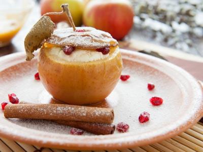 Фаршированные творогом яблочки