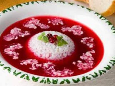 Суп с фруктами крупяной