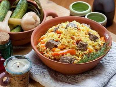 рисовый плов с вареным мясом