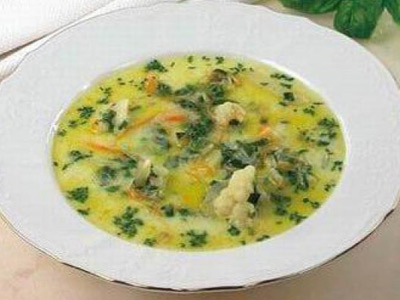 Суп с добавлением цветной капусты