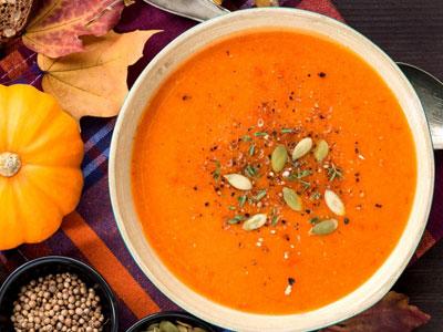 Кремовый суп из тыквы и хлебушка