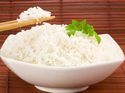 на паровой бане рис