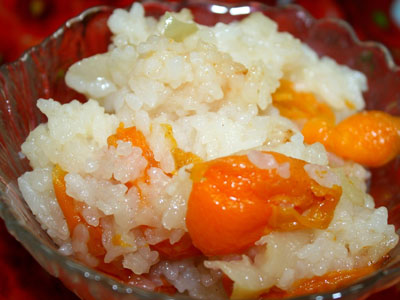Каша рисовая с абрикосом