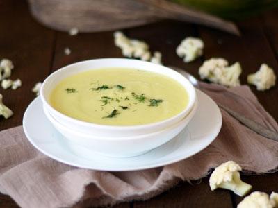 Суп-пюре из картофеля и цветной капусты