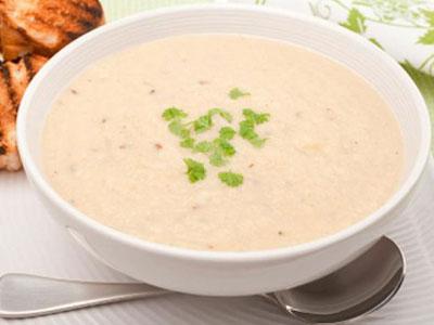 Суп из риса (слизистый) приготовленный на молоке