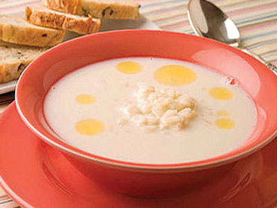 Суп манный с добавлением творога