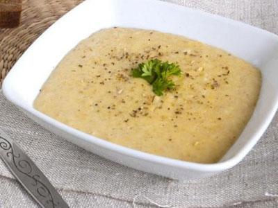 Овсяно-молочный суп (протертый)
