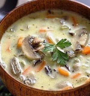 Сливочный суп с грибами