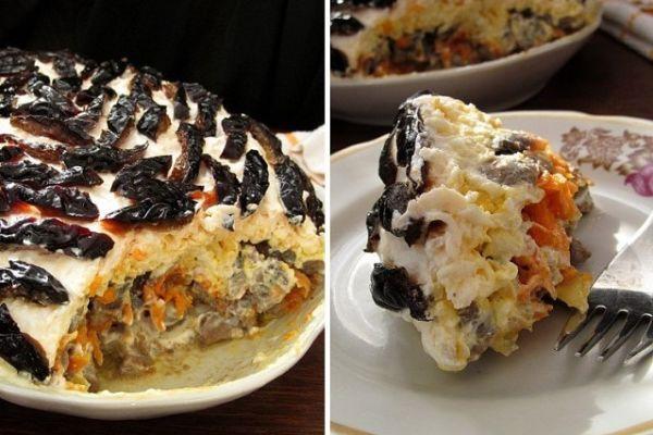 Изумительно вкусный салатик с куриной печенью