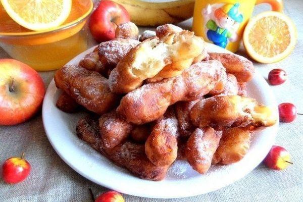Творожные палочки с яблоком