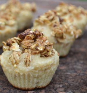 Быстрые кексы из овсянки с орехами