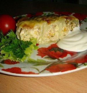 Капустный пирог-запеканка